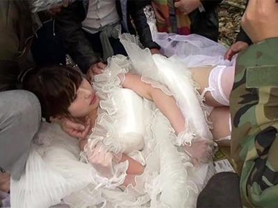 ※胸糞※幸せの絶頂の花嫁をさらって中出し輪姦レ〇プする鬼畜集団