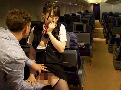 高度1万メートル上空の逃げ場のない機内で痴漢中出しの餌食になるCAさん