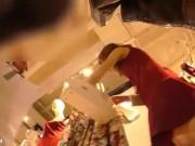 【盗撮動画】逆さHERO!二の腕プニプニし隊!フェロモンダダ漏れ美人ショップ店員のパンチラwww