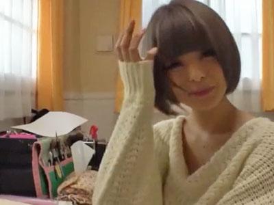 アイドル顔のショトカ美少女が撮影パコに緊張しつつもアクメ達成