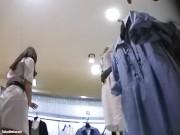【盗撮動画】またもMr.研修生!イイやつです!上品さと色気の良いとこ取りした美女ショップ店員のパンチラ!!