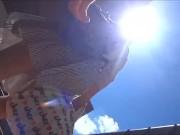 【隠撮動画】危険行為!清純派系OLのお姉ちゃんの背後に陣取ってスカート捲りパンチラ!!